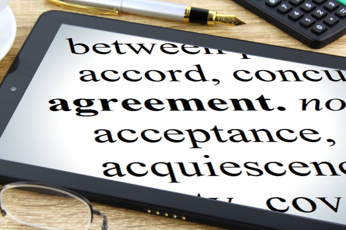Agreement on a table - Counselling Agreement
